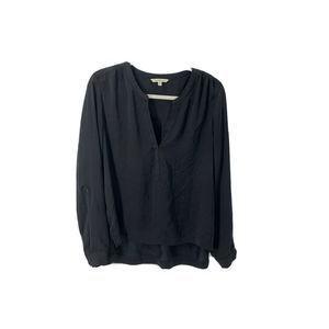 CALVIN KLEIN Womens Long Sleeve Blouse Black